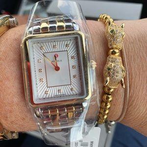 Deco II Michele Two Tones Diamond Watch